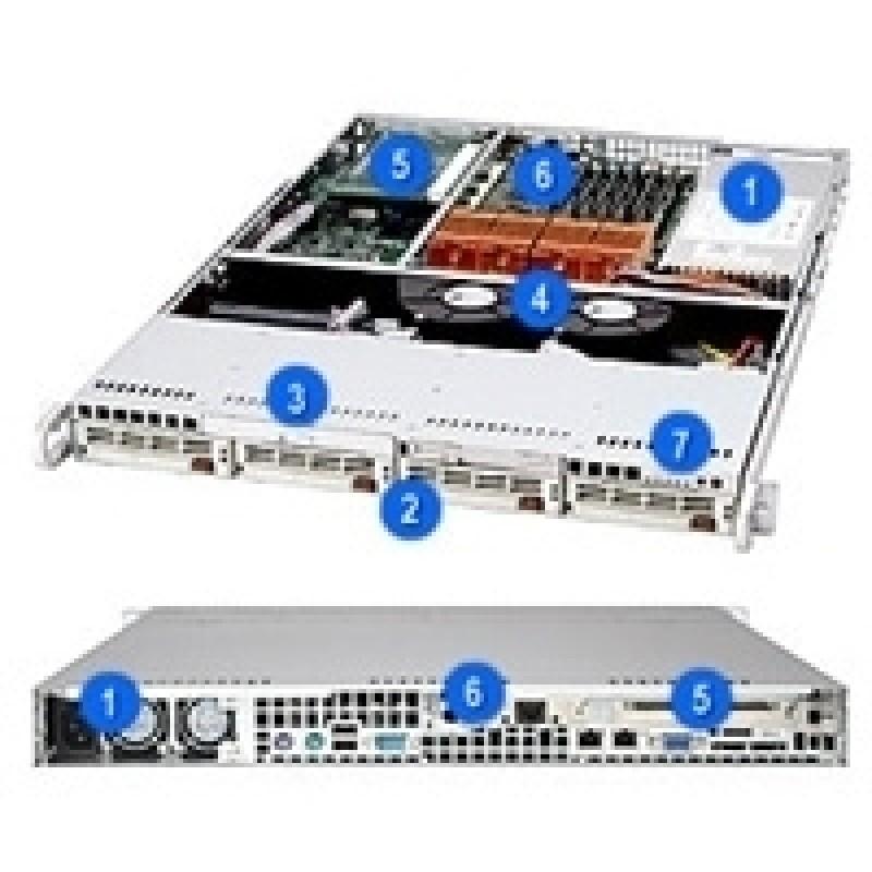 Supermicro CSE-813S-500CSE-813S-500BCSE-813S-500CCSE-813S-500CB