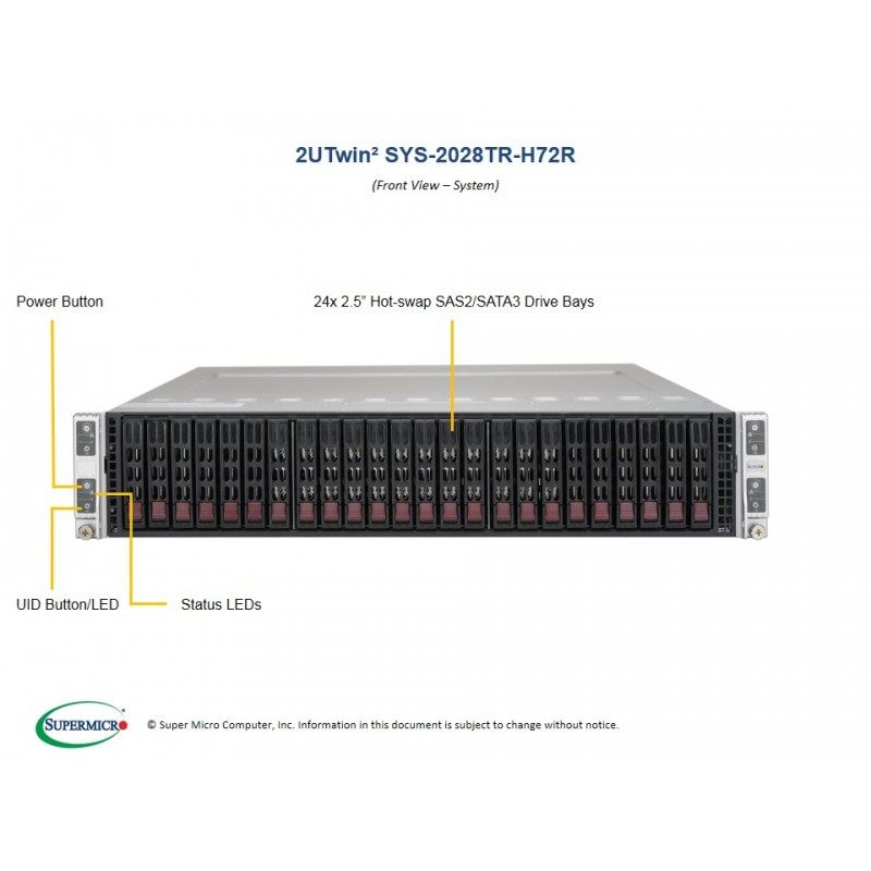 Supermicro SYS-2028TR-H72R