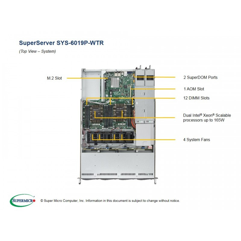 Supermicro SYS-6019P-WTR