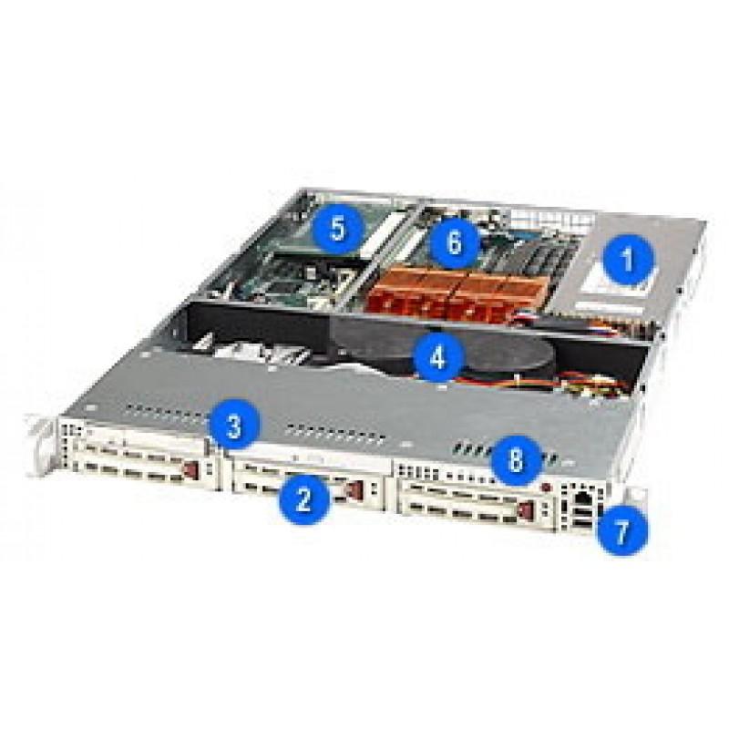Supermicro CSE-812S-420CSE-812S-420BCSE-812S-420CCSE-812S-420CB(No CDROM & FPD)